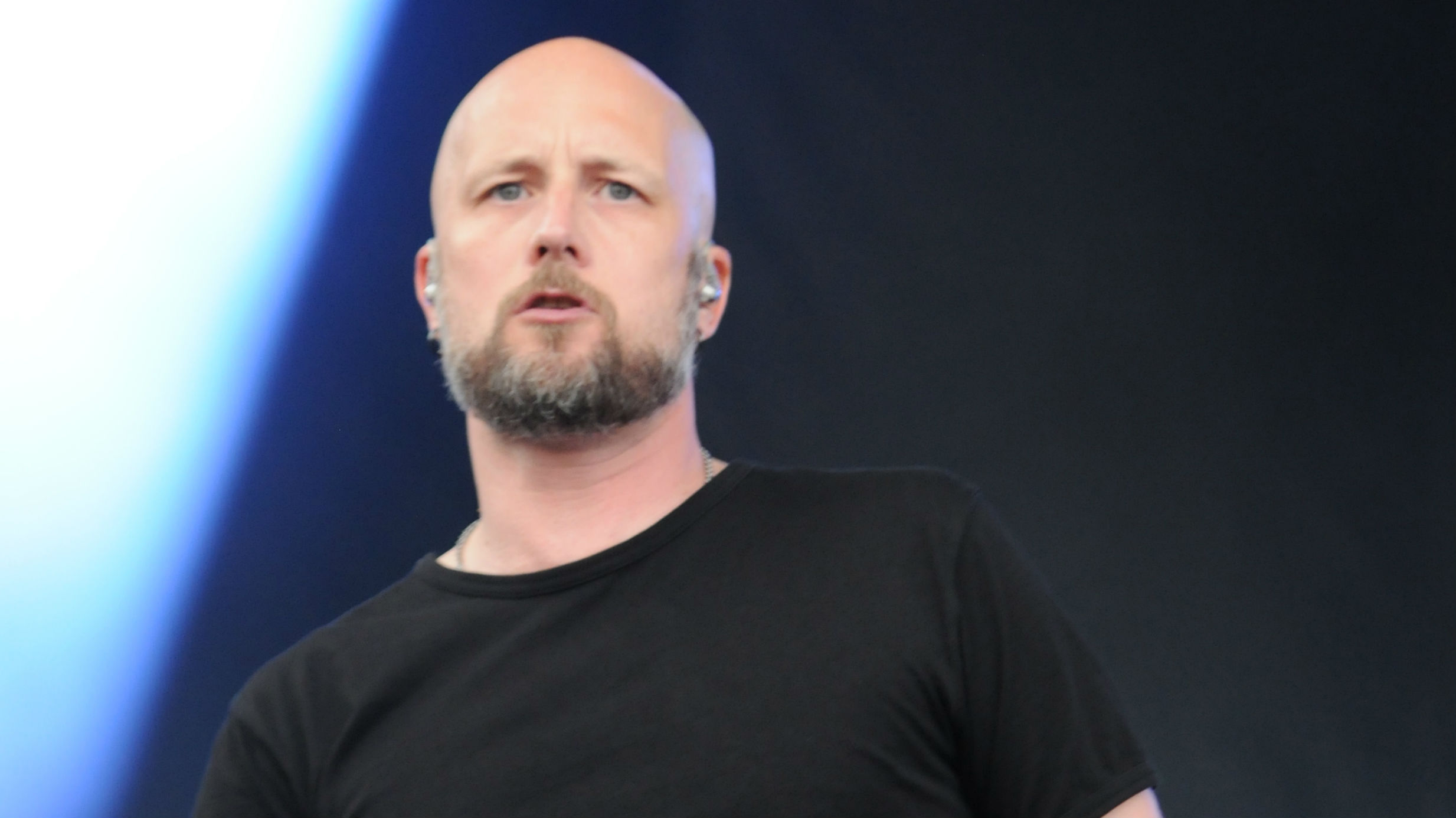 Jens Kidman of Meshuggah performs at Chicago Open Air 2016