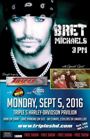 Triple S Harley-Davidson hosts Bret Michaels for Labor Day 2016
