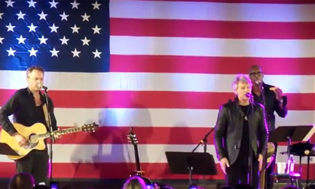 Jon Bon Jovi Peforms For Our Military Troops