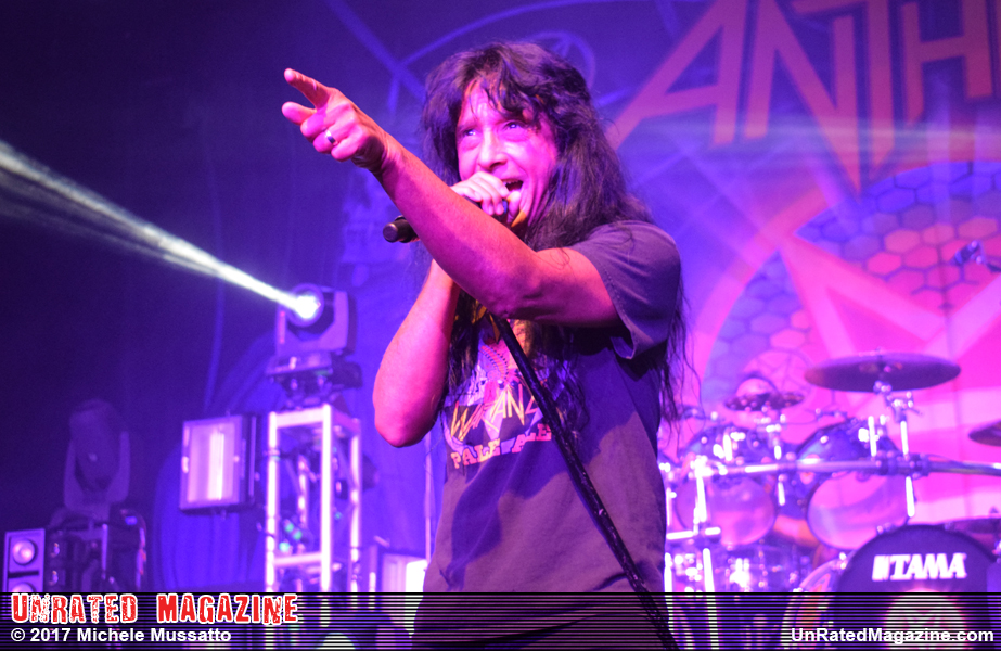 Joey Belladonna of Anthrax Arvest Bank Theatre at the Midland - Kansas City, MO, USA – April 30, 2017 (credit Michele Mussato)