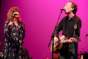 Steve Barton on stage with the great Susan Cowsill!