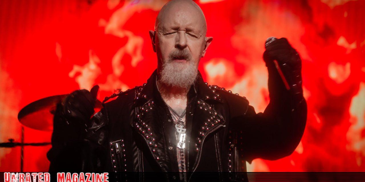 Judas Priest Men/'s  Emblem City 2018 Firepower Tour  Long Sleeve Black